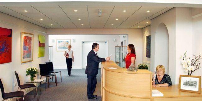 The reception services also include secretarial and chaperone support plus a boardroom for up to eight people.